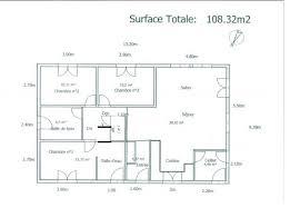 plan d une chambre plan d une maison 100m2 plans de maison plans de