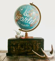 vintage life is short globe home decor u0026 lighting pixels