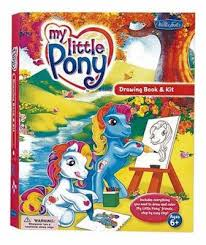 my little pony drawing book u0026 kit with 32 page how to draw book