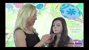 cream halloween makeup easter bunny makeup tutorial halloween makeup easy youtube
