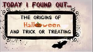 the origins of halloween and trick or treating