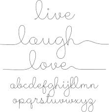 live laugh love live laugh love sketch font sofontsy