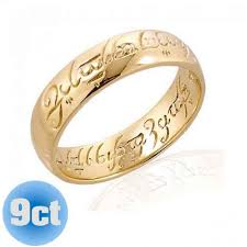 wedding ring direct lord of the rings 9k gold ring the one ring lord of the rings