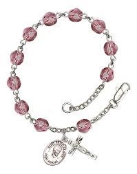 rosary bracelet claver amethyst rosary bracelet