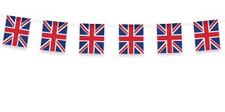 great britain party union jack fabric bunting 5m party ark