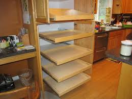 roll out shelves for kitchen cabinets furniture cream polished oak wood kitchen cabinet with pull out