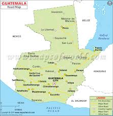 map of guatemala cities road map