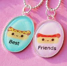 best friends friendship necklace images Hot dog ketchup and mustard best friend friendship necklace jpg