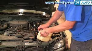 how to install replace windshield washer pump subaru outback 01 04