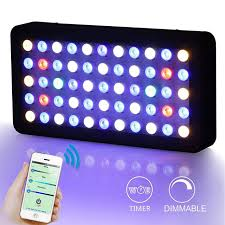 led aquarium light with timer wifi dimmable 165w led aquarium light timer lighting reef marine