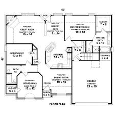3 bed 2 bath house plans house floor plans 3 bedroom 2 bath with garage www