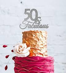 50 birthday cake 50 fabulous 50th birthday cake topper swirly glitter