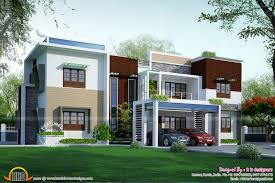 Flat Home Design by Modern Flat Roof Contemporary Home Kerala Design Floor House With