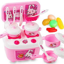 coffret cuisine enfant leadingstar 2 en 1 cuisine vaisselle coffret portable jouer maison