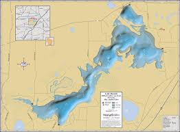 map of lake geneva wi lake beulah wall map