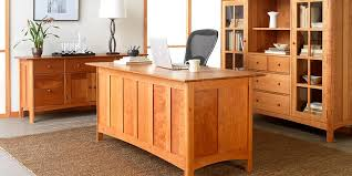 Small Solid Wood Desk Real Wood Office Furniture Solid Wood Desks Vermont Woods Studios