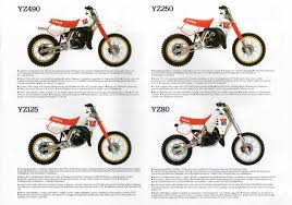 my motorcycle restoration diary u0026 notes yamaha brochure yz tt it ty