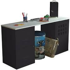 bureau metallique bureau métallique noir plateau blanc office pas cher à prix auchan