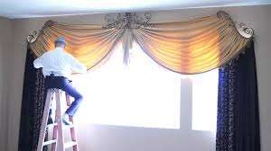 how to dress custom drapes for tall windows galaxy design video