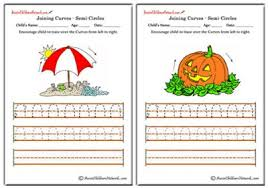 tracing curves worksheets aussie childcare network