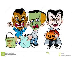 halloween trick or treat stock illustration image 44669785