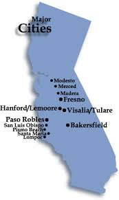 california map major cities central valley auto appraising service areas