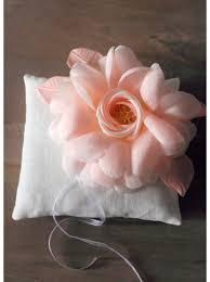 Porte Alliance Fleur Coussin D U0027alliances Fait Main Avec Fleurs De Soie Et Dentelle So