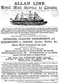List Of Ship Sinkings by The Allan Line Passenger Lists And Emigrant Ships From Norway