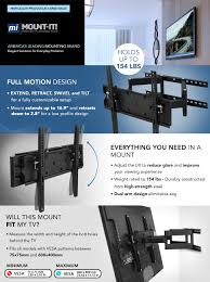 full motion corner tv wall mount amazon com mount it tv wall mount articulating corner bracket