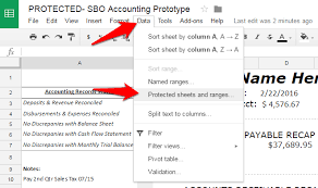 how to protect cells in google sheets