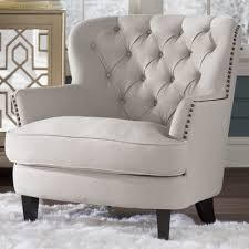 linen club chair house of hton greene tufted upholstered linen club chair
