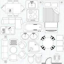 Furniture Sizes For Floor Plans Floor Furniture Planner Icons Simple Plan Outline Royalty Free