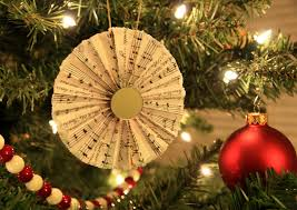 sheet paper fan ornaments yellow bliss road