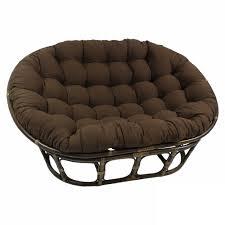furniture dark rattan double papasan chair frame for home