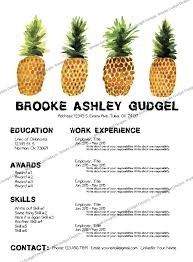 sorority resume template pineapple resume conact brookegudgel gmail sorority