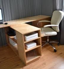 Free Wood Office Desk Plans by Contemporary L Shaped Desk Foter