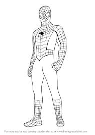 drawn spiderman spoderman pencil color drawn spiderman