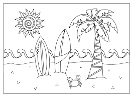 beach coloring pages preschool beach scene coloring pages beach coloring pages preschool a beach