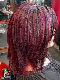 black with pink highlights seven sins salon