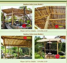 Bamboo Patio Cover Quality Bamboo And Asian Thatch July 2014