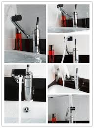 solid brass single handle luxury bathroom faucet and modern sink