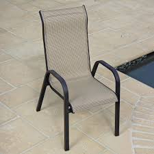 Outdoor Sling Chairs Aluminum Stackable Patio Chairs
