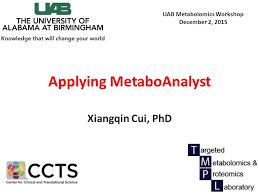 applying metaboanalyst ppt video online download