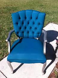 tulip fabric spray paint chair update teal chair spray paint
