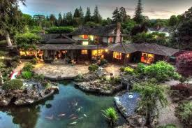 Japanese Style Garden by Historic Japanese Inspired Estate For Sale In San Mateo San