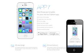free website templates for android apps ios7 app responsive landingpage web template