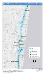 Pompano Beach Florida Map by Quiet Zones