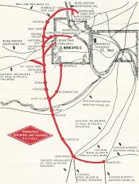 Chicago Railroad Map by The Dan Patch Railroad St Louis Park Historical Society