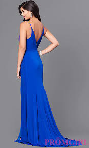 royal blue dress v neck royal blue prom dress promgirl