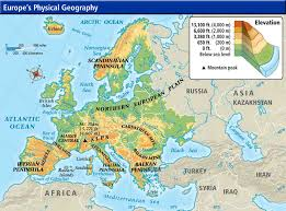 europe phisical map week 7 europe physical map jpg 865 640 pixels answers to the